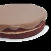Pastel red velvet con nutella